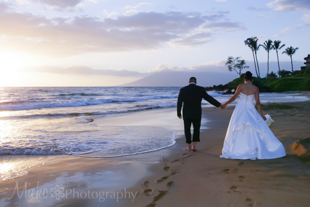 Fairmont Kea Lani Sunset Wedding by the beach