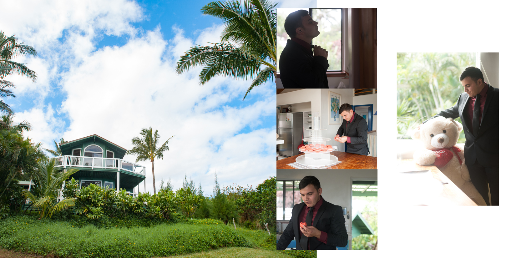Sample Album Design of Maui Wedding Photography at Panoramic Tropical Setting in Haiku
