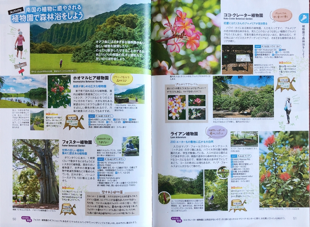 Editorial Assignments for Japanese Guide Book about Honolulu - Oahu, Parks and Garden Feature