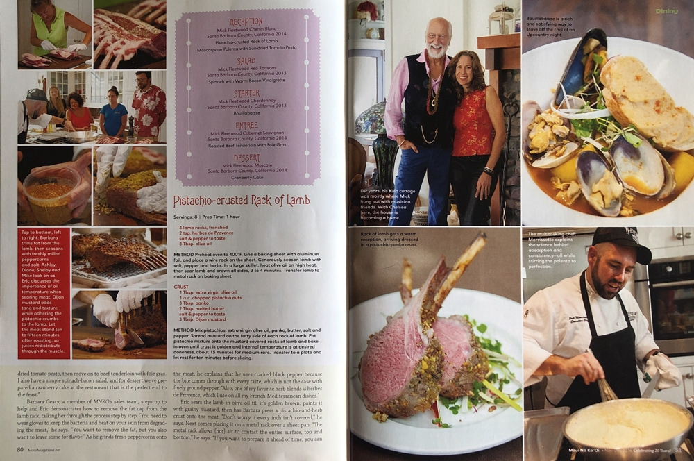 Editorial Assignment for Maui No Ka Oi Magazine -Holiday Test Kitchen with Mick Fleetwood - 2